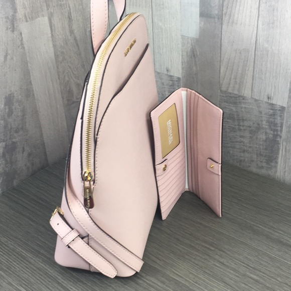 Michael Kors Handbags - Emmy Blossom Lg Backpack & Md Flt Bfld Wallet
